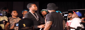 Just Happened: 50 Cent & Meek Mill Almost Fight at Mixtape Show in Atlanta