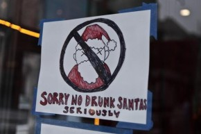 Must See Video! Santa Claus Gets Drunk & Starts Fighting Other Santas!